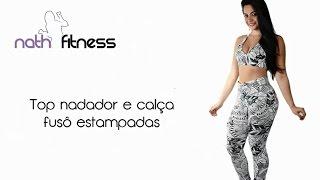 Nath Fitness - Moda Na Web | Top nadador e calça fusô estampados