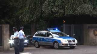 VIP Eskorte Bundespräsident Joachim Gauck Ausfahrt Villa Hammerschmidt + Durchsage