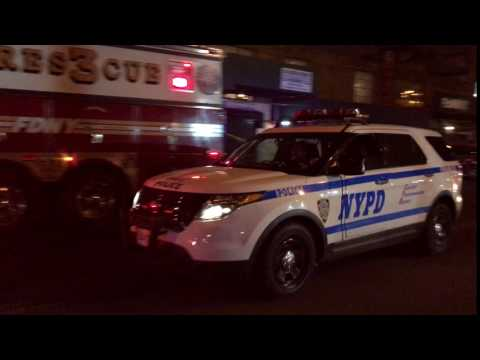 NYPD POLICE INTERCEPTOR UTILITY RESPONDING & THEN CANCELLED ON JEROME AVENUE IN NORWOOD, THE BRONX.