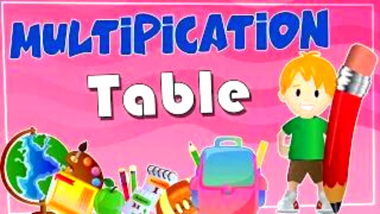 Multiplication Tables For Children 2 to 15  Learn Tables