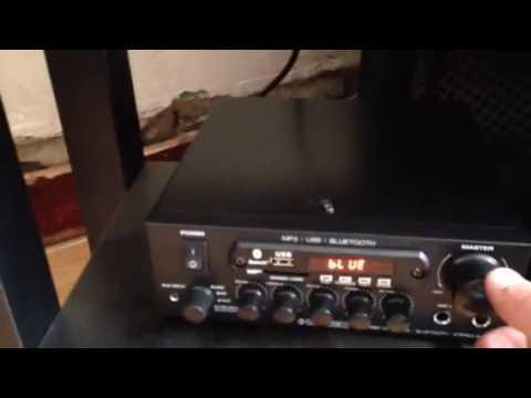 German Dj speakers And amplifier set 1600w , Bluetooth MP3 usb