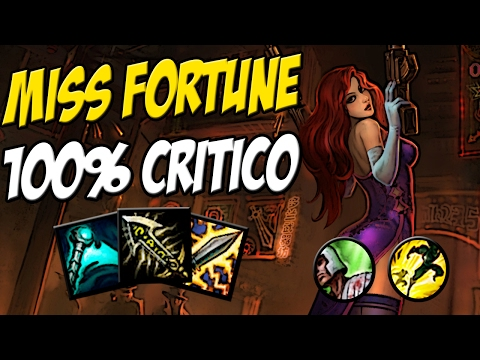 MISS FORTUNE 100% CRITICO 317 AD 40% CDR - Aperta R e da Pentakill - League of legends- Eterno Lol