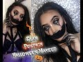 EASY Glam Jack-O-lantern Halloween Makeup Tutorial | Creepy Pumpkin