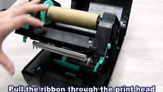 วิธีใส่ผ้าหมึกเครื่องพิมพ์บาร์โค้ด TSC TA200 Printer Barcode