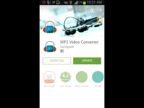 How to convert Video to MP3 by android phone