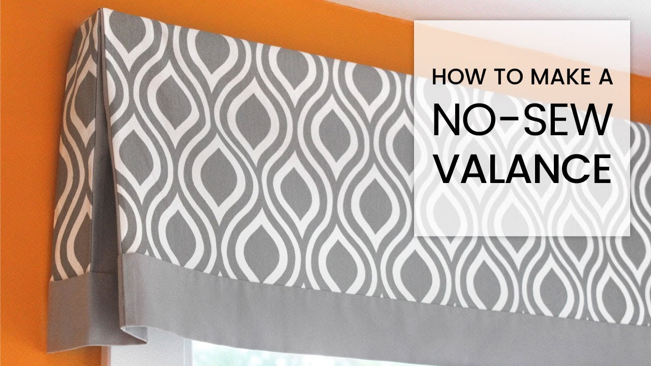 Diy No Sew Valance Tutorial Youtube