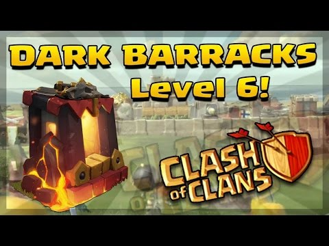 clash of clans Upgrade Dark Barracks level 6 (Unlock's Warrior - Lava Hound)