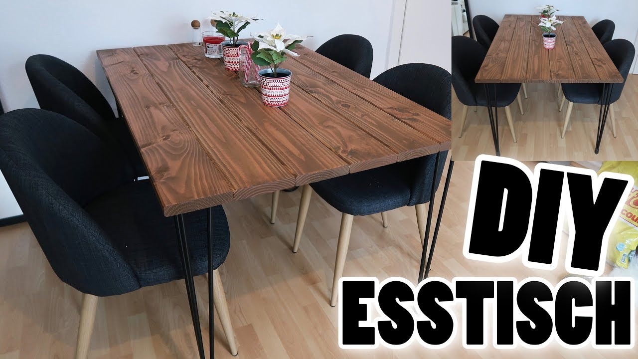 Diy industrial esstisch i meggyxoxo youtube for Esstisch industrial