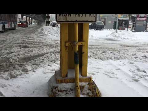 3/14/2017 Winter Storm Stella in NYC walk from Long Island City to Astoria
