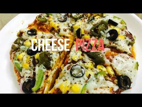 MAKING CHEESE PIZZA WITHOUT OVEN