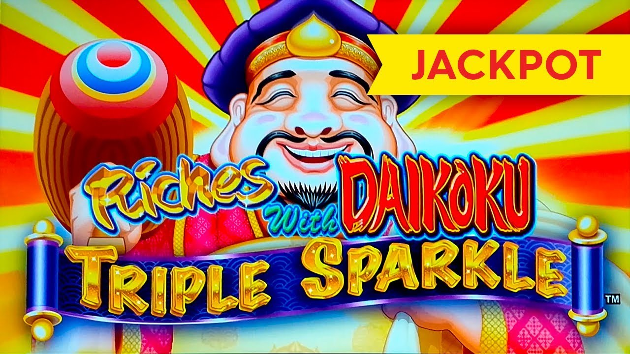 Download JACKPOT HANDPAY! Riches With Daikoku Triple Sparkle Slot!