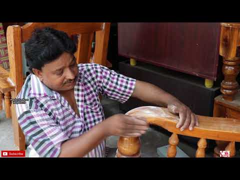 How to Color Change Wooden Sofa to Rose wood Sofa Polish Making Design Final Finishing Look