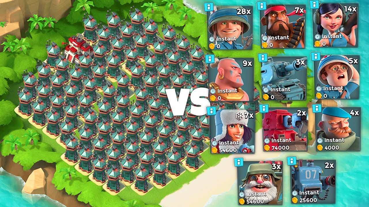 Download ALL SNIPER TOWER BASE vs Every Troop in Boom Beach