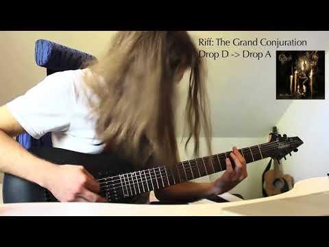 heavy opeth riffs - on a 7 string guitar?!