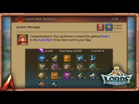 Lords Mobile: #1 Guild Kingdom Clash Reward Opening!