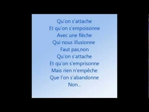 On s'attache-Christophe Maé-Lyrics