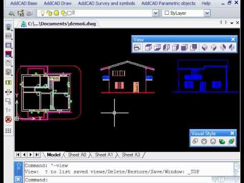 15 generazione viste 2d 3d prospetti e sezioni youtube - Finestre dwg 2d ...