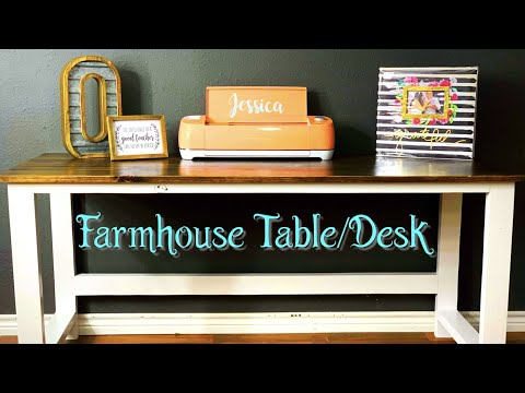 Sturdy DIY Farmhouse Table / Desk - Inexpensive Easy Weekend Project