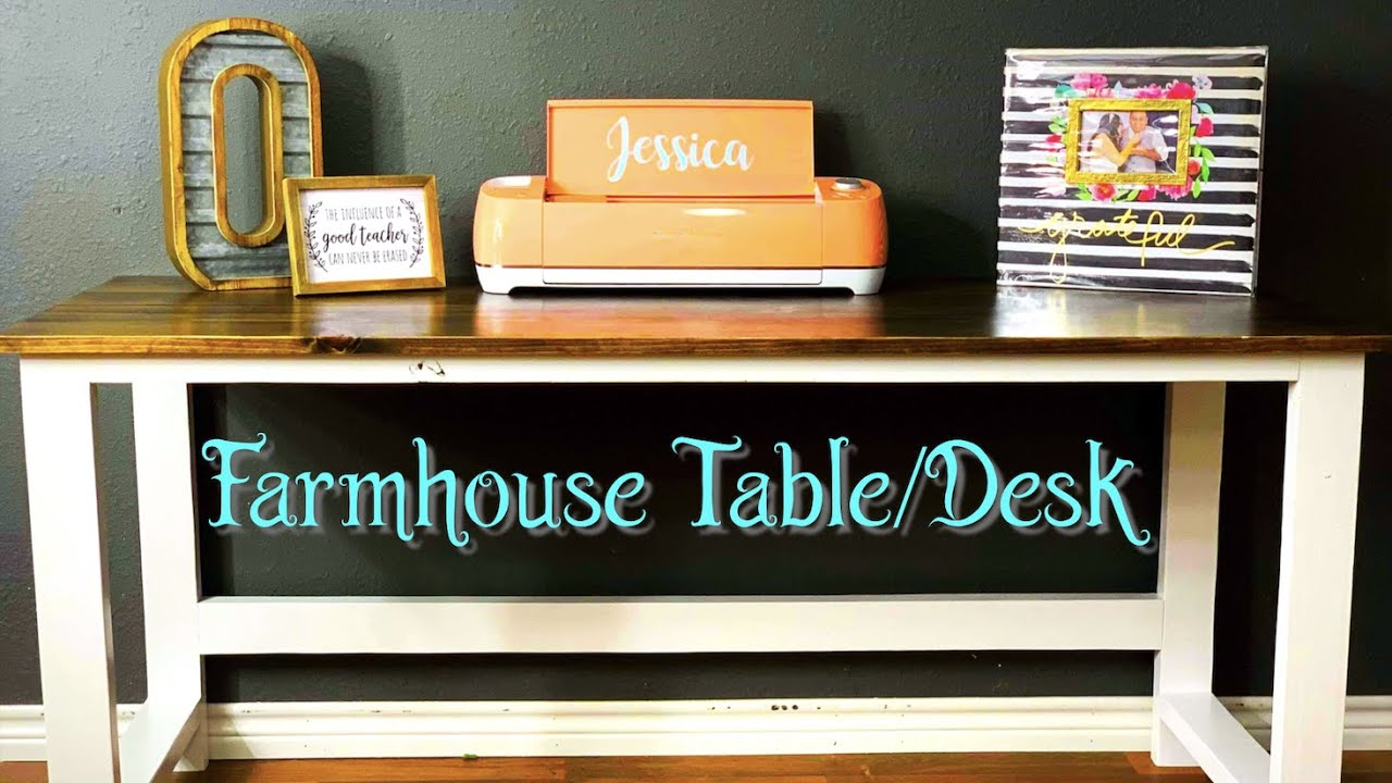 Charmant Sturdy DIY Farmhouse Table / Desk   Inexpensive Easy Weekend Project