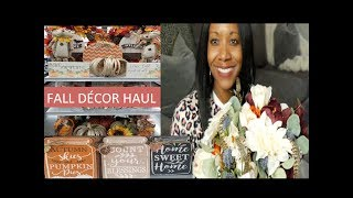FALL HOME DECOR HAUL|| MICHEALS, HOMEGOODS, BURLIINGTON