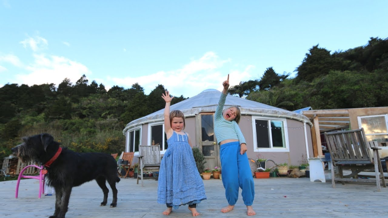 day in the unschooling yurt life off grid living nz ditl youtube