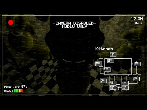 First footage of the kitchen camera in Five nights at ...
