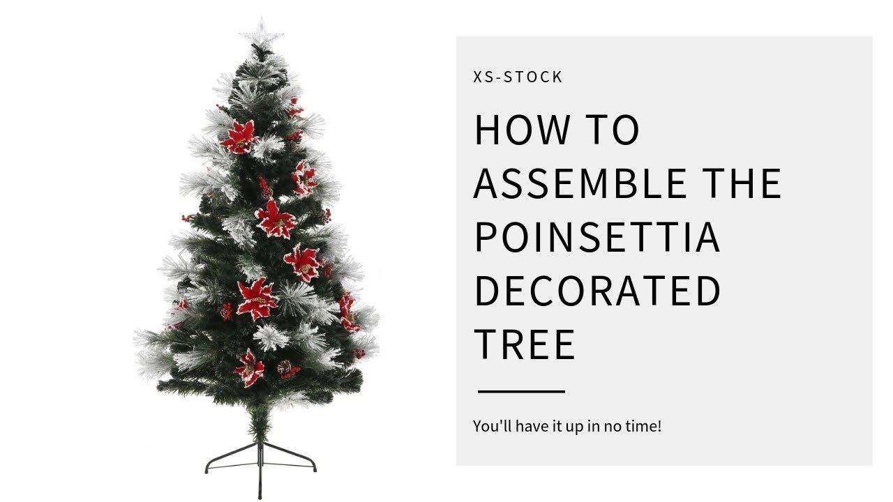 How to Assemble your \'Fibre Optic Poinsettia\' Tree - YouTube