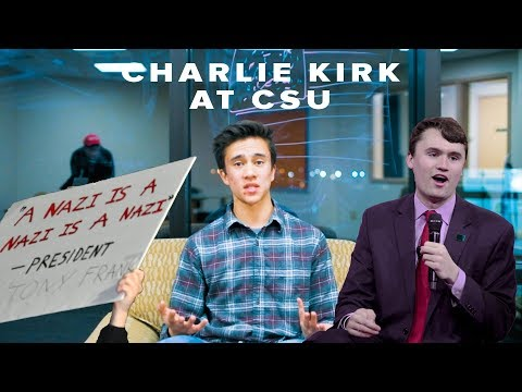 Interviews at Charlie Kirk Event at CSU