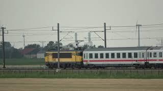 LOC 1745 met IC Berlijn tussen Dronten en Lelystad