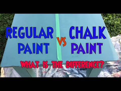 chalk paint vs regular paint test what is the difference