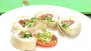 How To Make Sliced Sandwich Wraps : Chicken Salads & Sandwiches