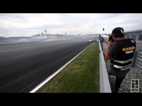 Fredric Aasbø and Mad Mike Whiddett 220kph / 136 mph dirtdrop Gatebil