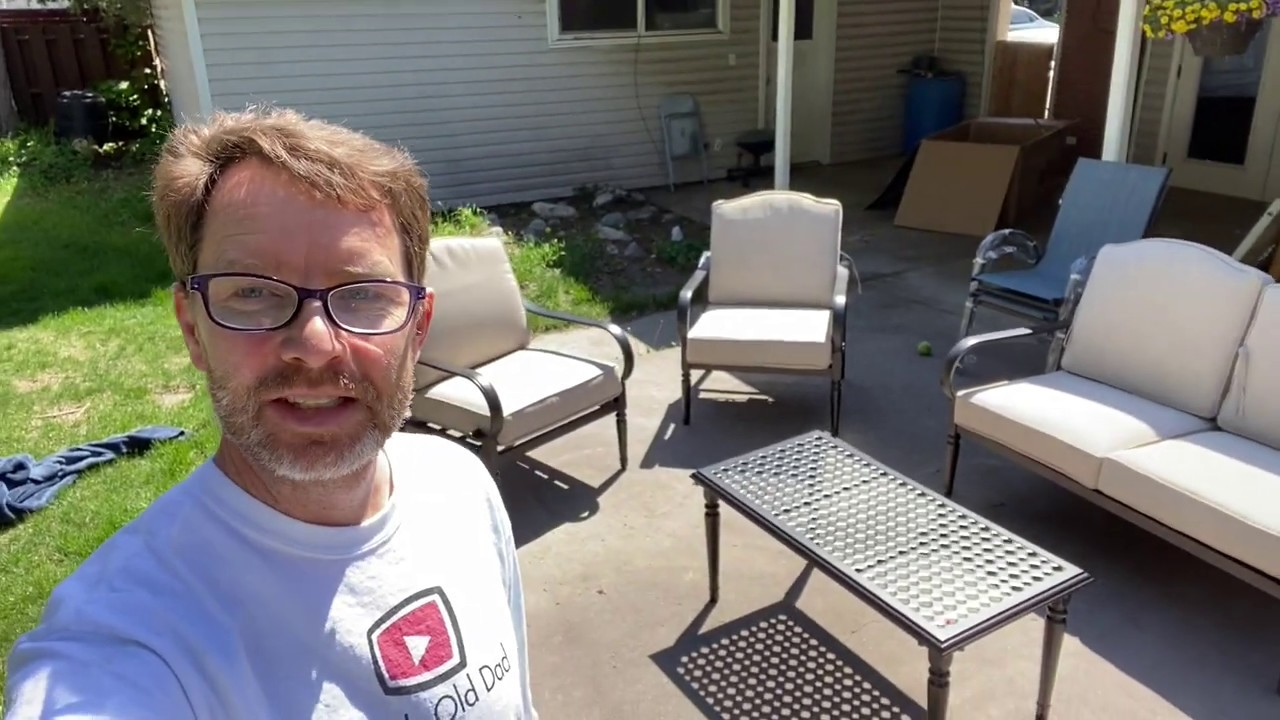 first look at a 4 piece patio set from hampton bay