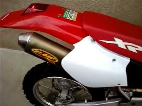 FMF Q2 Exhaust - 2001 Honda XR400 - YouTube
