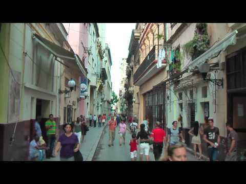 Cuban life in the streets of Havana Vieja