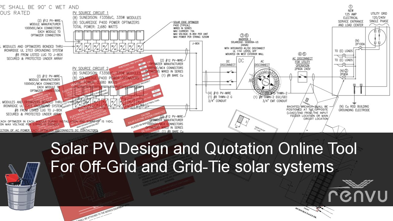 solar pv system online design and quotation tool for grid tie and off grid renvu [ 1280 x 720 Pixel ]