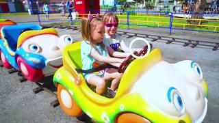 Влог! Лучший парк развлечений для детей  Арина и Катя весело проводят время