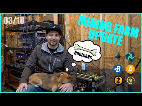 What its like Mining Cryptocurrency in 2018 - BTC/ETH/ZEC - VoskCoin March Farm Update!