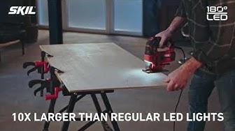 180° LED-valo valaisee sahauslinjan erinomaisesti