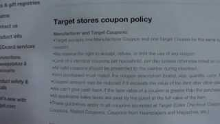 TARGET'S COUPON POLICY CLARIFICATION REGARDING BOGO COUPONS--6/30 Thumbnail