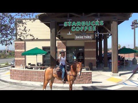 Starbucks Pony Espresso: Riding My Horse Thru the Drive Thru