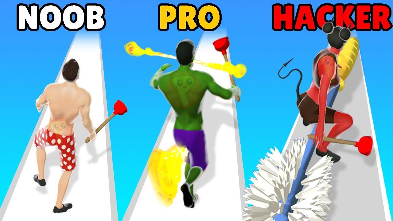 NOOB vs PRO vs HACKER in Toilet Rush