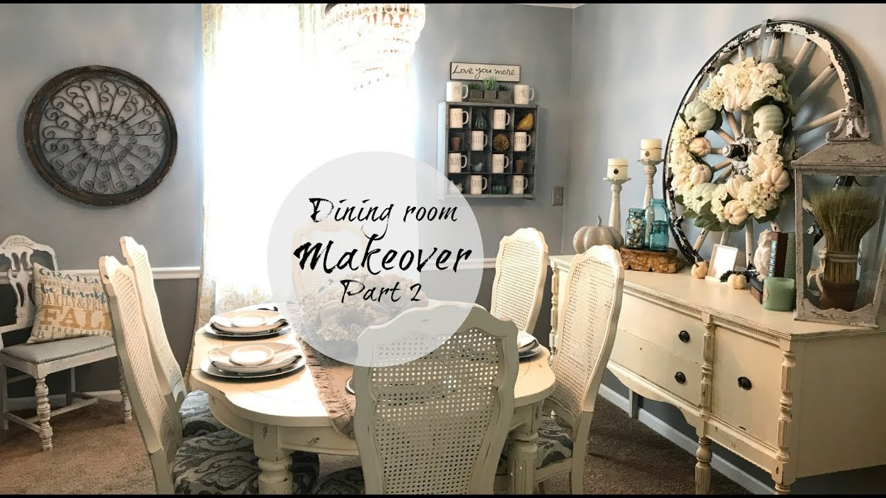 Dining Room Makeover Fall Decorating