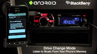 JVC Mobile Entertainment 2012 - CD and Digital Media Receiver - Android & Blackberry