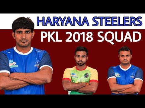 Pkl 2018 haryana steelers full squad
