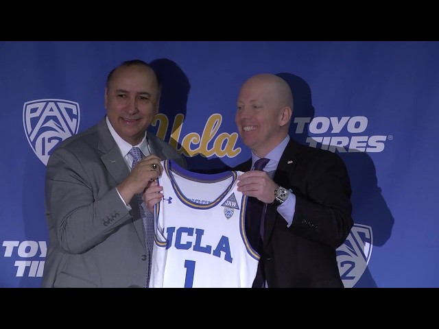 """04bfbe65e17 Mick Cronin Shows """"He Gets UCLA"""" at His First Bruins  Press Conference -  Bruins Nation"""