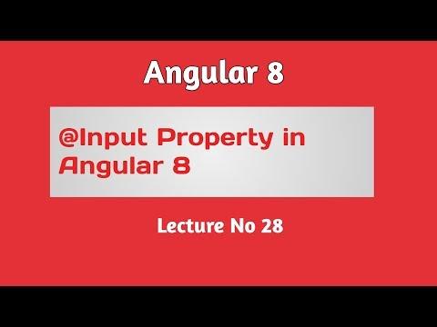Angular 8 Tutorial - Part 28 -  @Input Property in Angular 8 in Hindi Urdu thumbnail