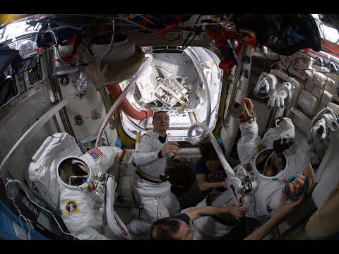 Dias trabalhosos a bordo da ISS