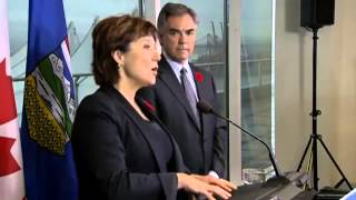 Jim Prentice and Christy Clark meeting