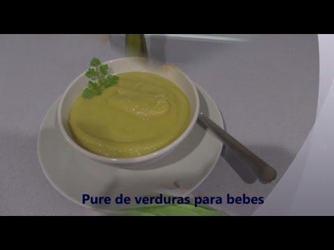 Pure de verduras recetas para bebes youtube - Pures bebes 6 meses ...